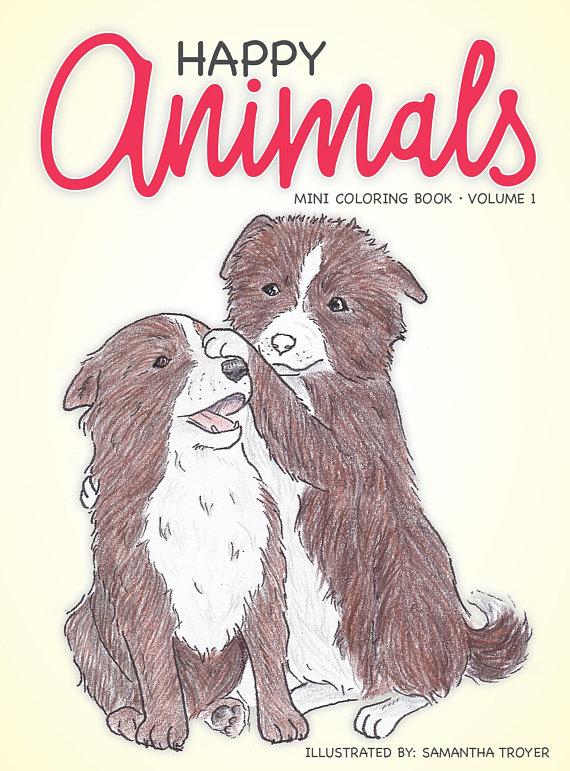 Happy Animals Mini Coloring Book Volume 1